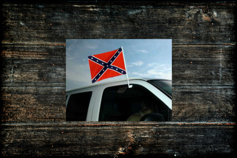"Confederate 12"" x 18"" Heavy Duty Window Car Flag"