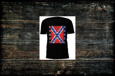 Rebel Flag Men's T-Shirt (Different Colors Available)