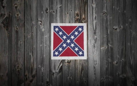 "*SALE* Irregular (Slight color variation) Rebel Flag Bandana 22"" x 22"""