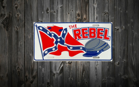 """The Rebel"" License Plate (Aluminum)"