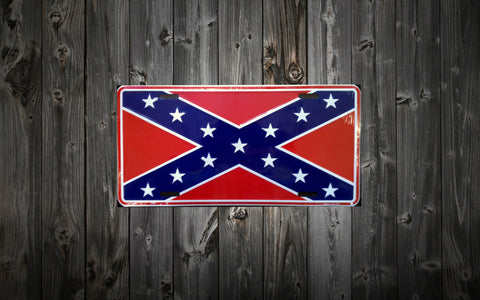 Rebel Flag (Aluminum) License Plate