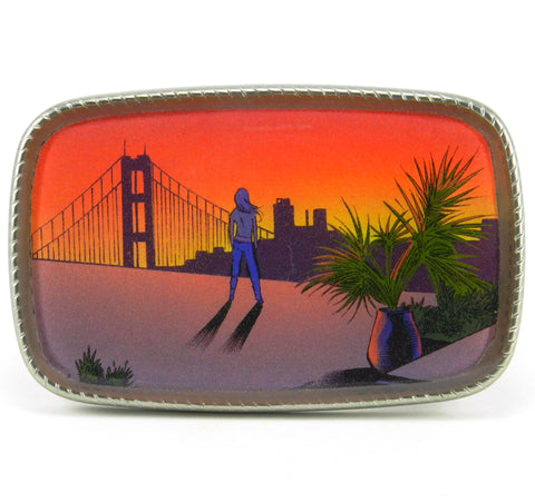Golden Gate Sunset Girl