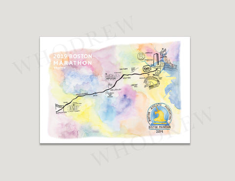 "Boston Marathon 5x7"" Print"