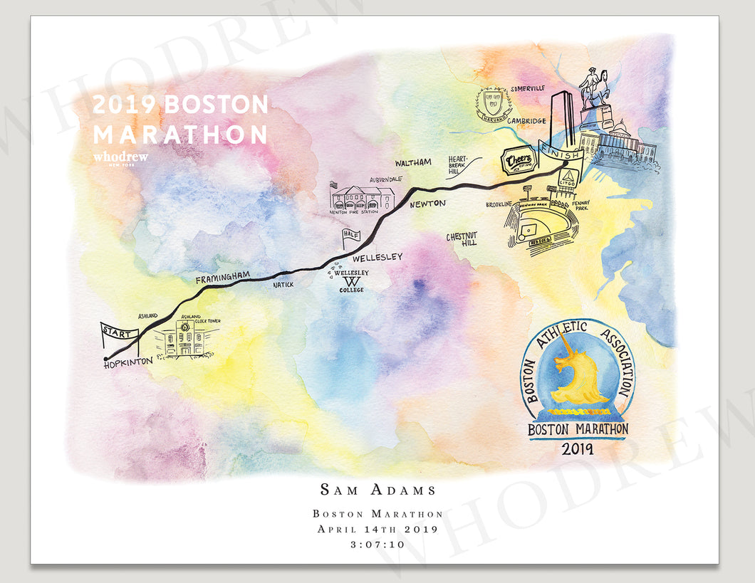 Boston Marathon 8x10