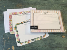 Load image into Gallery viewer, Monogrammed Flat Notecard Set of 12