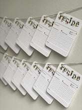 Load image into Gallery viewer, Blank Recipe Cards - Set of 15
