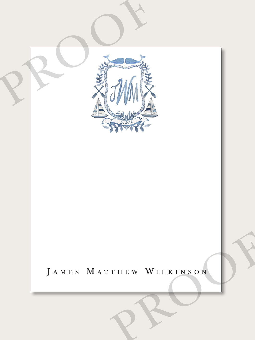 The James Collection - Flat Notecards