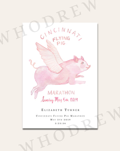 "Cincinnati Flying Pig Marathon 5x7"" Print"