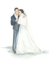 Load image into Gallery viewer, Custom Bride + Groom Illustration