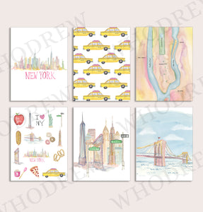 NYC Notecards - Package of 6 notecards with envelopes