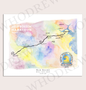 Boston Marathon Print 2019