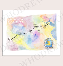 Load image into Gallery viewer, Boston Marathon Print 2019