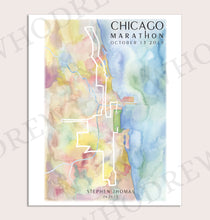 Load image into Gallery viewer, Chicago Marathon Print 2019