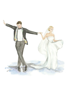 Custom Bride + Groom Illustration