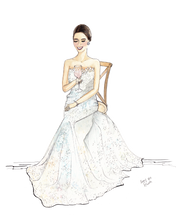 Load image into Gallery viewer, Custom Bridal Illustration