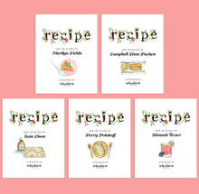 Load image into Gallery viewer, Whodrew Recipe Notecards - set of five