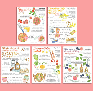 Whodrew Recipe Notecards - set of five