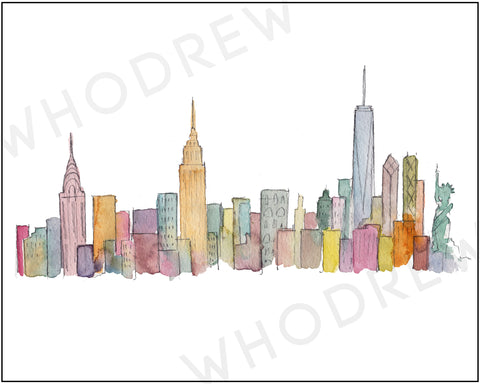 New York Skyline 8x10 print