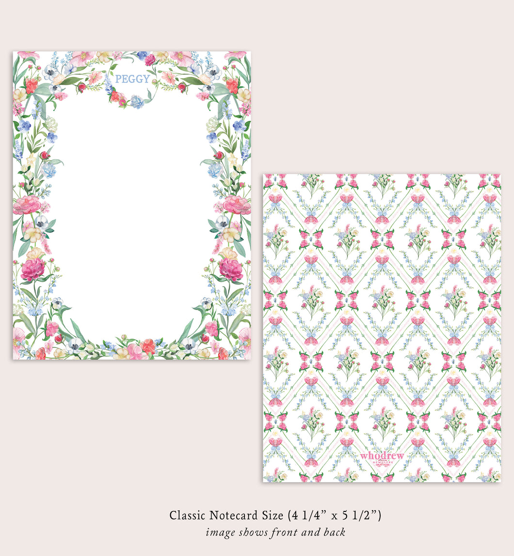 Peggy Summer Florals - Classic Size Design Vertical