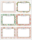 Monogrammed Flat Notecard Set of 12