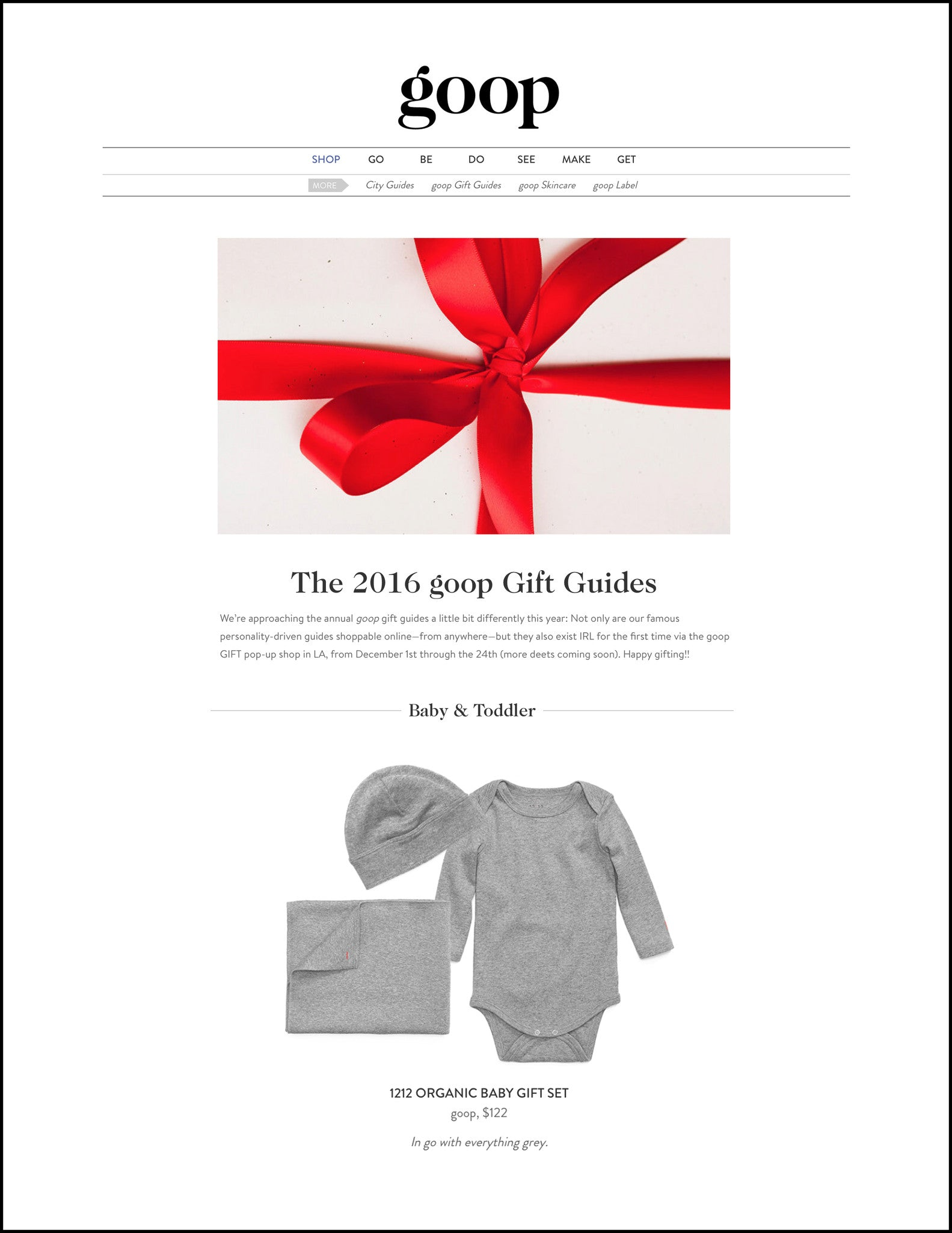 goop 2016 Holiday Gift Guide