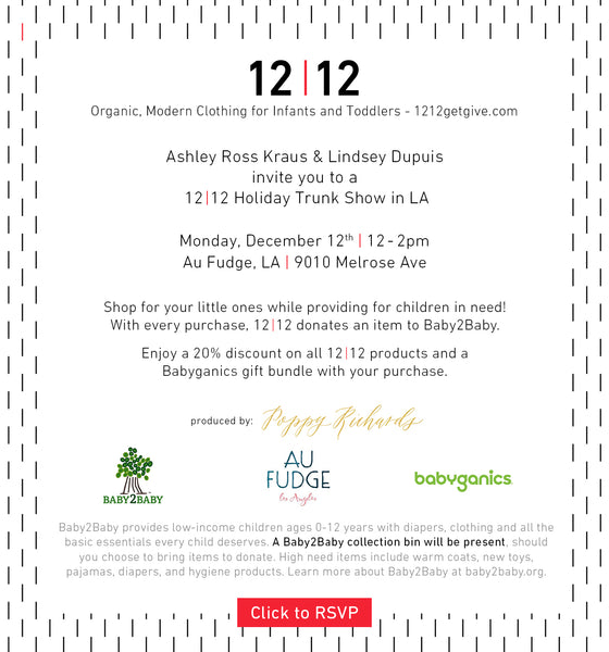 12|12 Holiday Trunk Show at Au Fudge