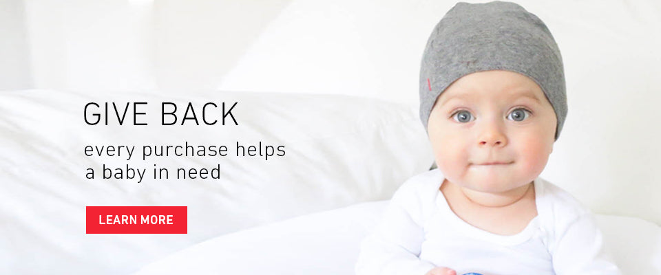 Give Back. Every purchase helps a baby in need. Learn More.