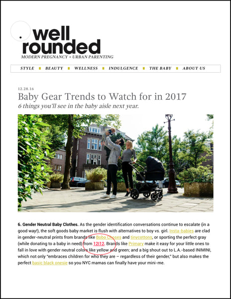 2017 Baby Trends on Well Rounded NY
