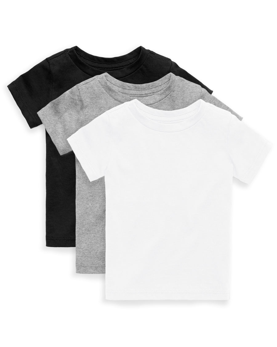 The Daily Short Sleeve Tee 3 Pack Black Grey White