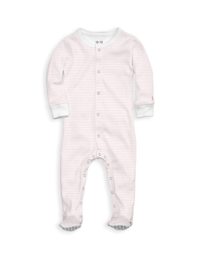 The Nightly Footed Pajama Pink Stripe