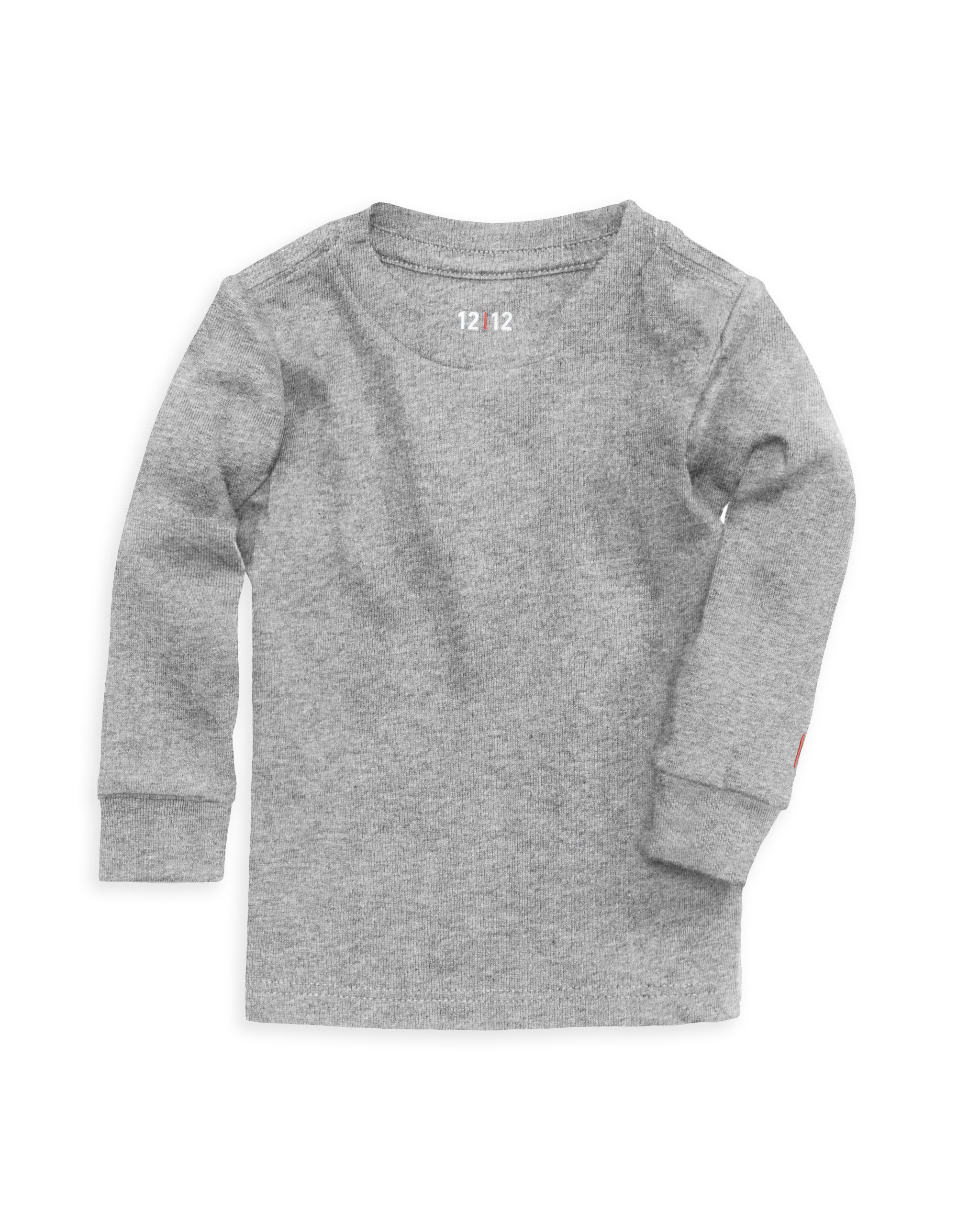 Black t shirt for babies -  100 Organic Cotton Baby Long Sleeve T Shirt In Heather Grey