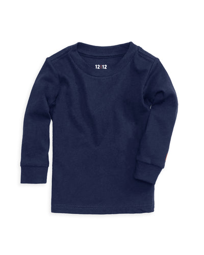 100% Organic Cotton Baby Long Sleeve T-shirt in Navy