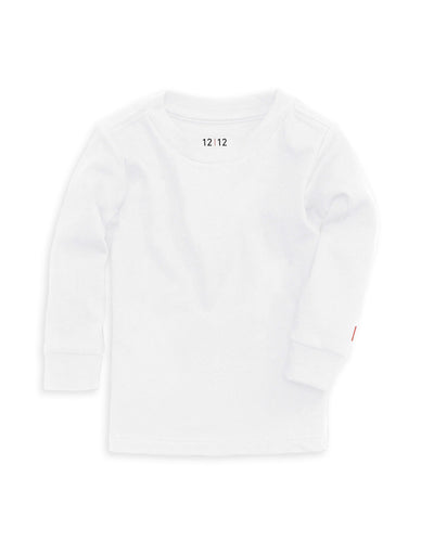 Organic Crew Neck T-shirt - Long Sleeve • 12|12