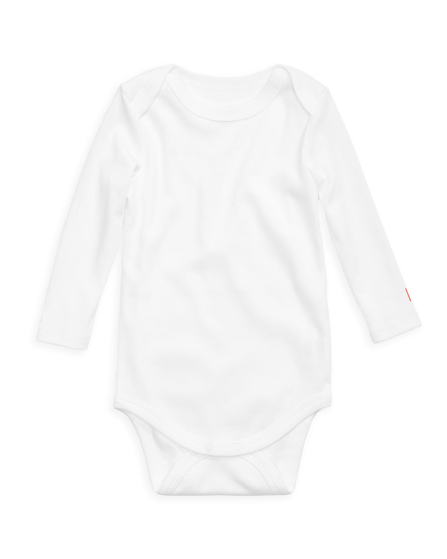 12|12 The Daily Long Sleeve Onesie White