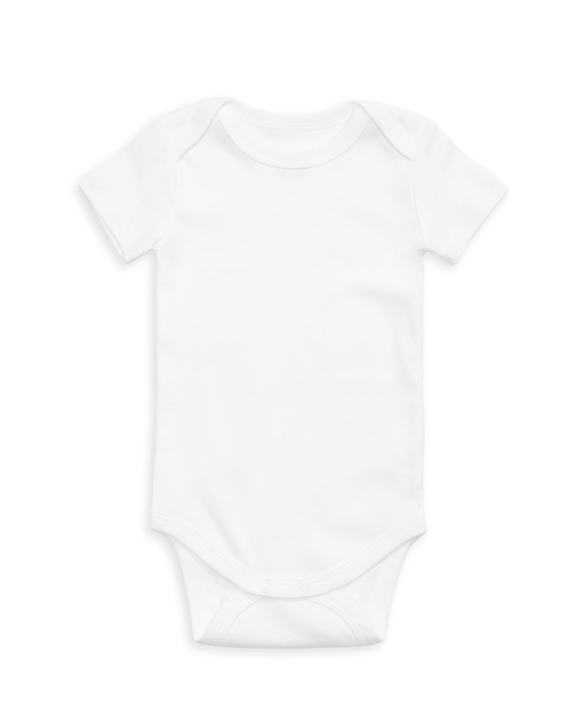 The Daily Short Sleeve Onesie White