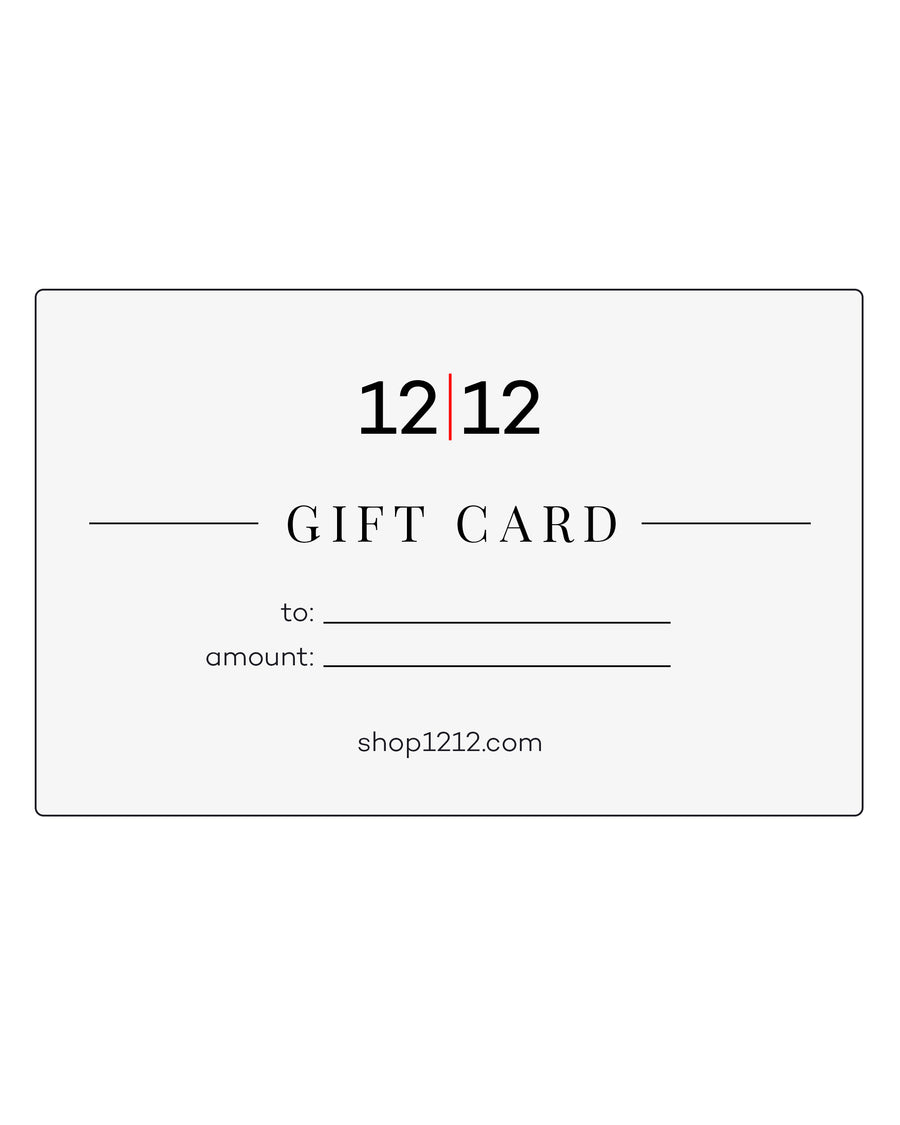 Gift Card • 12|12