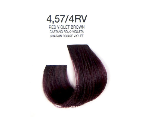 Cream Hair Color - Red Violet Brown