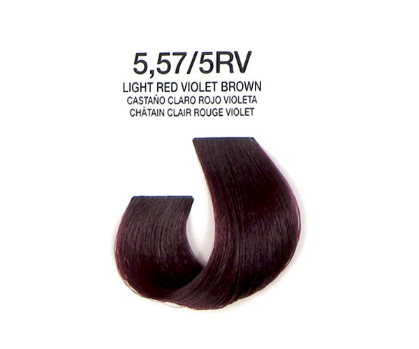 Cream Hair Color - Light Red Violet Brown