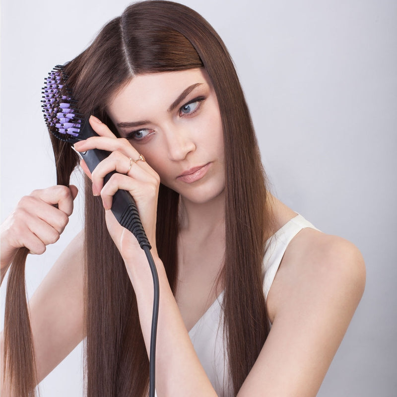 DAFNI LIMITED EDITION - Hair Straightening Ceramic Brush - DAFNI AUSTRALIA