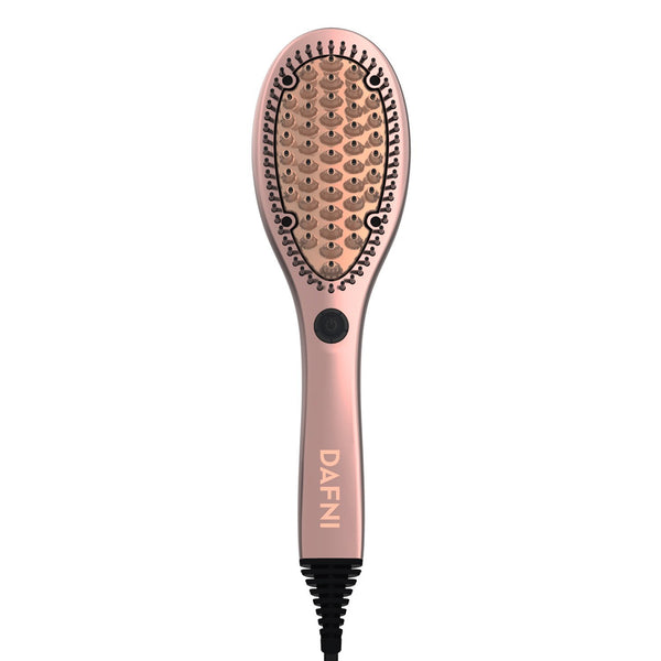 DAFNI ROSE GOLD - Hair Straightening Ceramic Brush - DAFNI AUSTRALIA
