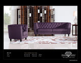 Modern Purple Bellini Sofa