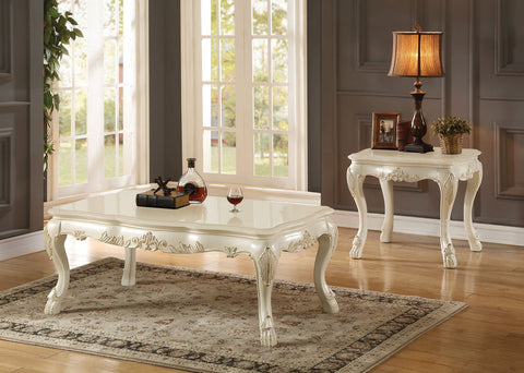 Dresden Antique White Coffee Table Set