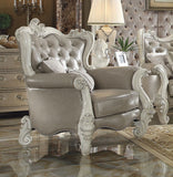 Versailles Vintage Gray PU/ Bone White Sofa Set