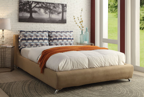 Lightriver Light Brown Queen Bed