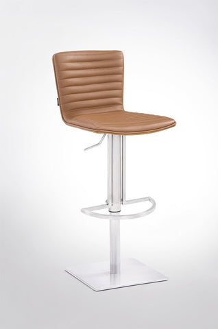 Modrest Dawn Modern Camel Leatherette Bar Stool