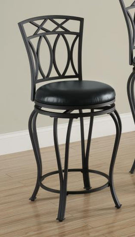 Metal Barstool with Padded Faux Leather Seat