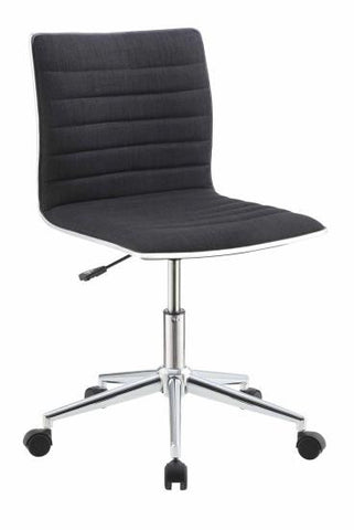 Sleek Office Chair with Chrome Base (4 Diff Colors)