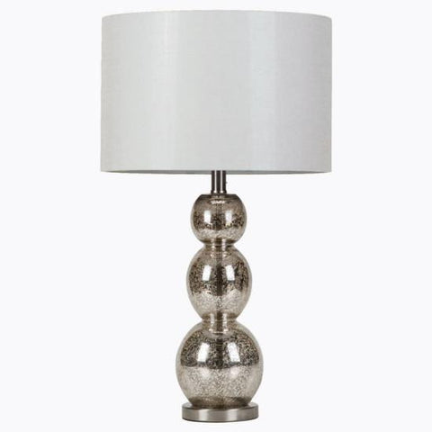 Dover-Foxcroft Metallic 27.5'' H Table Lamp with Drum Shade