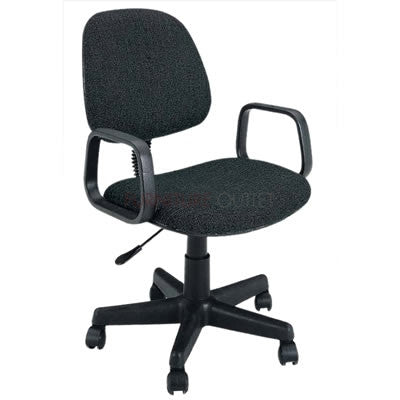 Mandy Black/Grey Fabric Office Chair by Acme