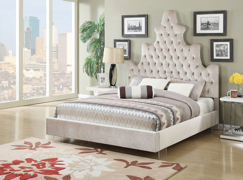 Duchess High Headboard Crystal Like Button Tufted Bed